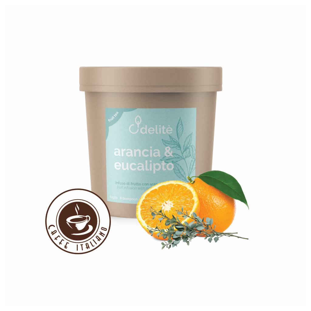 Pedron ovocný sypaný čaj Arancia & Eucalipto - Pomaranč a Eukalyptus 100g