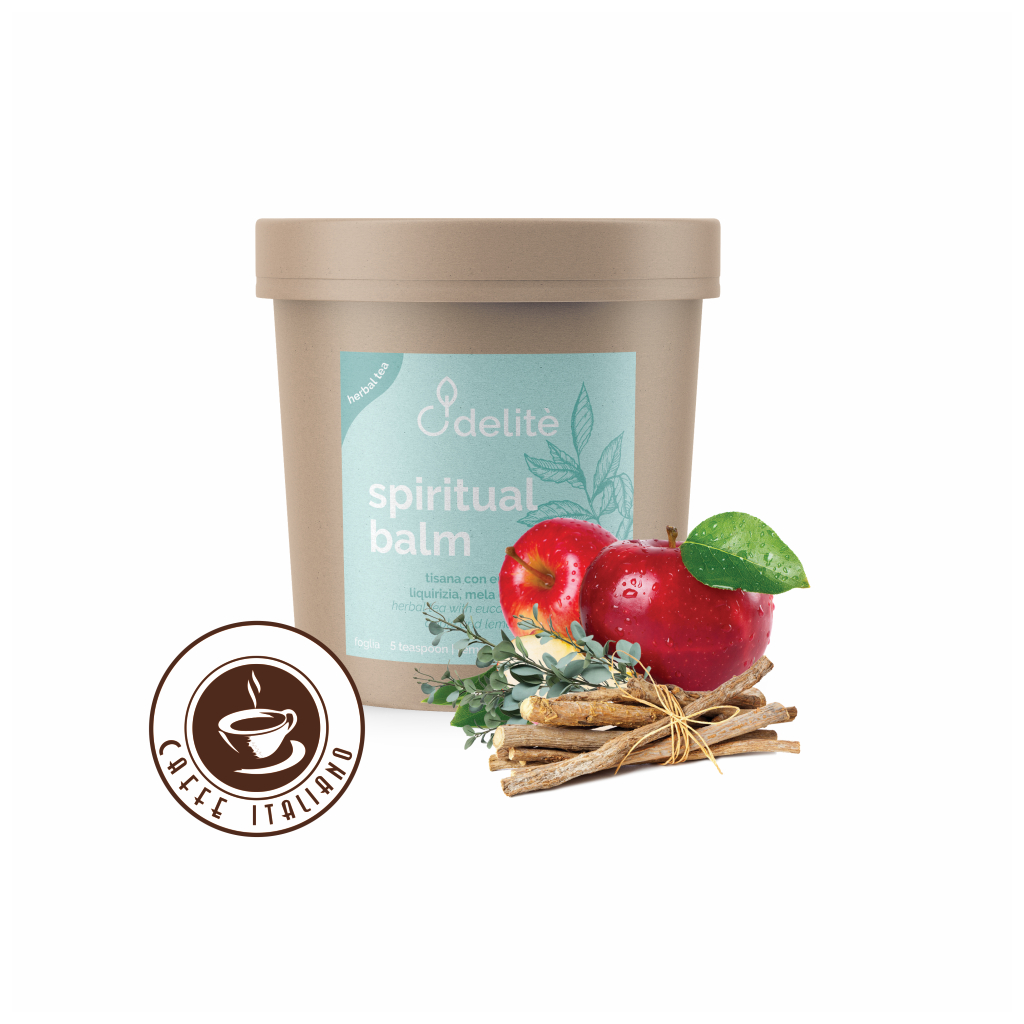 Pedron sypaný bylinkový čaj s Eukalyptom, Sladkým drievkom, Jablkom a Citrónovou trávou 60g