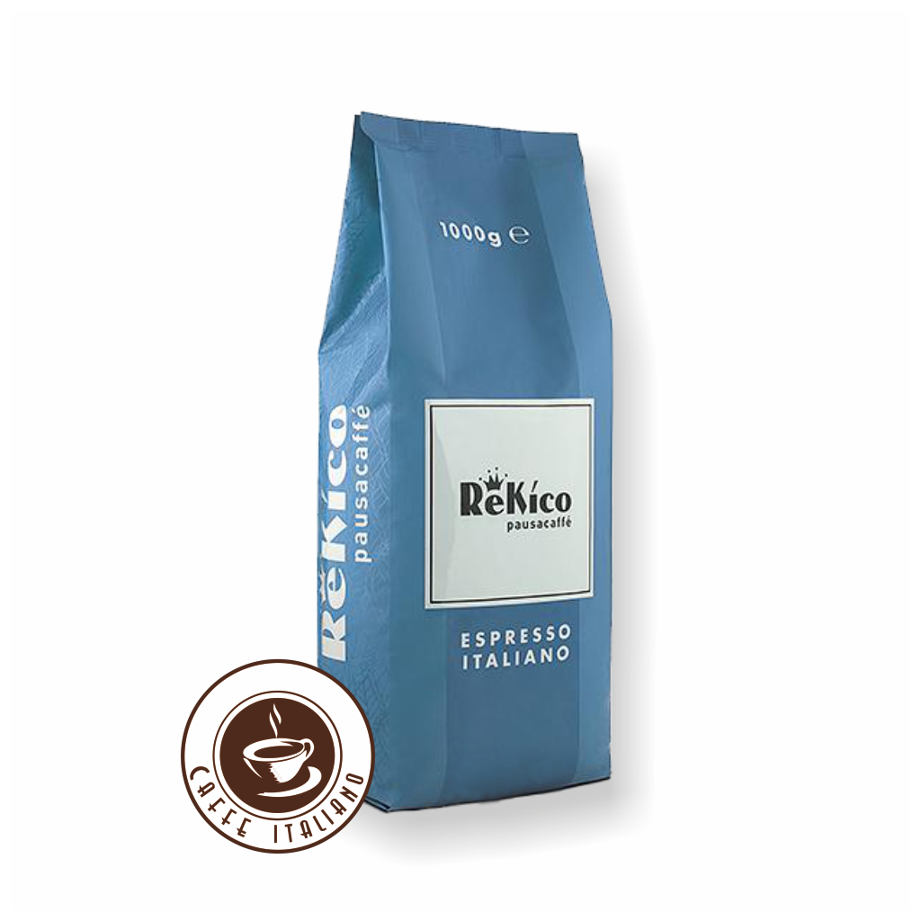 Rekico bezkofeínová 1kg zrnková káva
