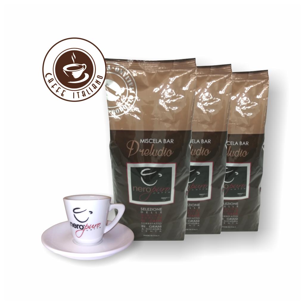 NeroPuro Preludio 3kg kávy + šálka grátis