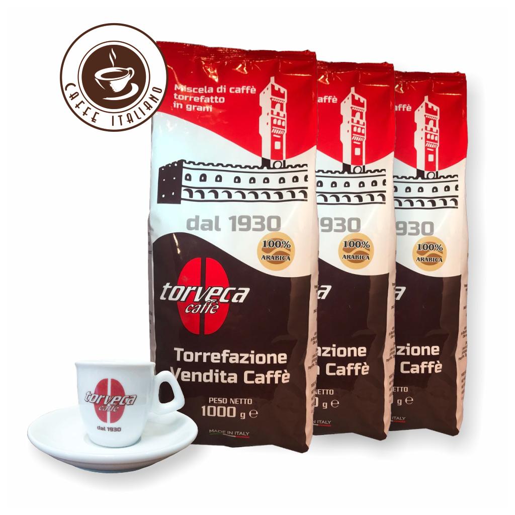 Torveca 100% Arabica 3kg kávy + šálka grátis