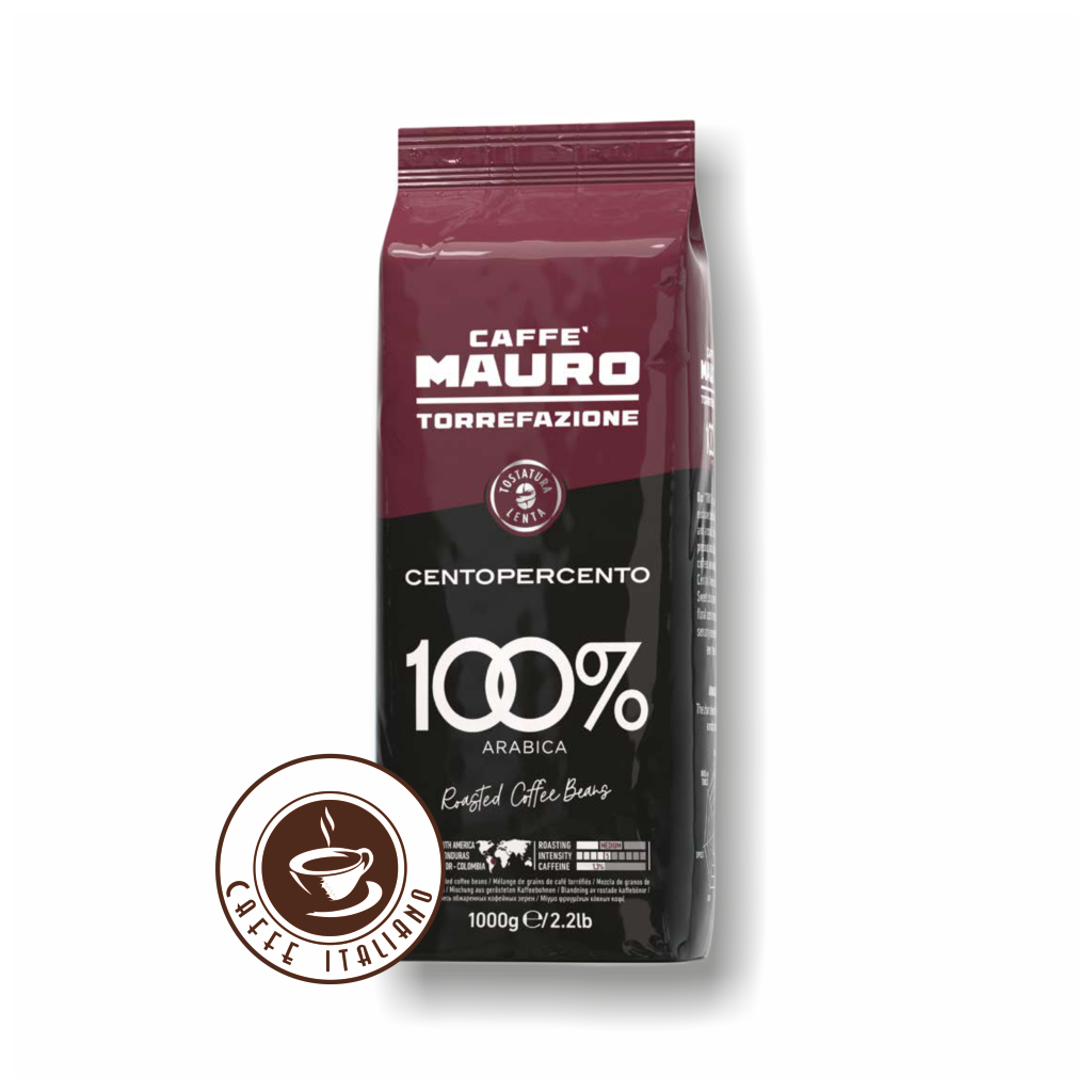 Mauro caffé Centopercento zrnková káva 1kg
