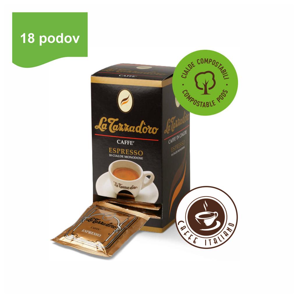 la tazza doro oro ESE pody 18ks arabica robusta mleta kava logo caffeitaliano