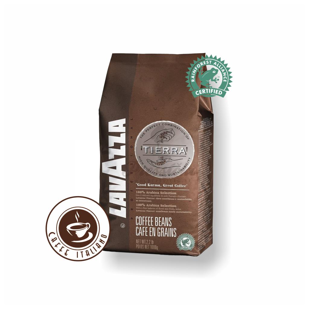 Lavazza Tierra 1kg zrnková káva