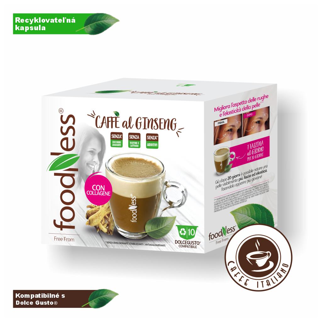 ženšen kolagén dolce gusto 10ks foodness zdravý teplý nápoj caffeitaliano