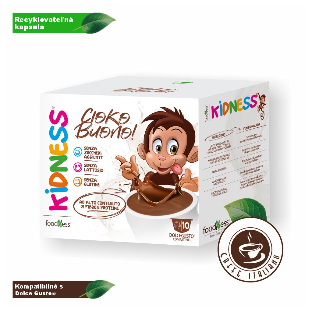 foodness cokoladove latte pre deti cioko latte kapsule 10ks dolce gusto logo caffeitaliano