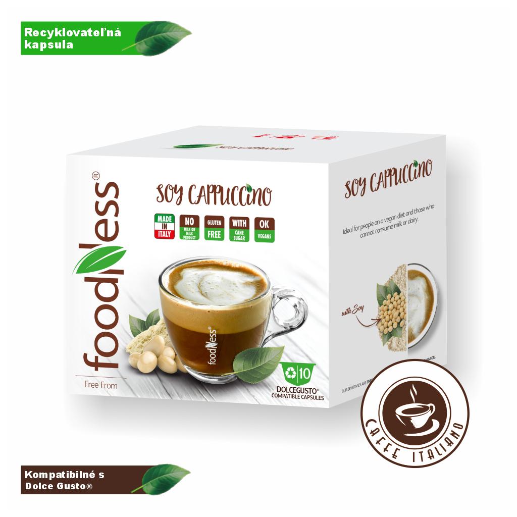 foodness sojove cappuccino kapsule 10ks dolce gusto logo caffeitaliano