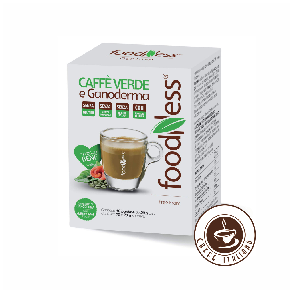 Zelená káva s hubou Reishi 10ks/20g