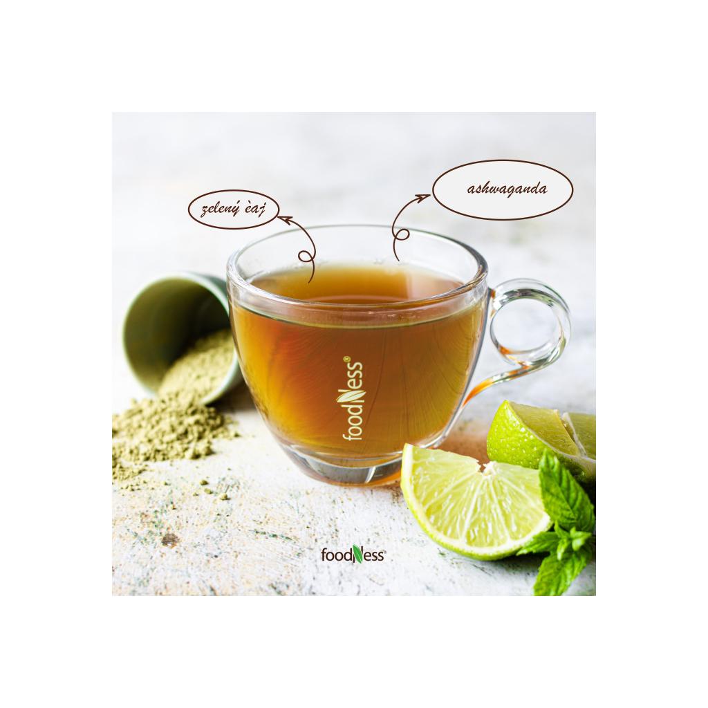zelený čaj ashwagandha dolce gusto 50ks foodness zdravý teplý nápoj caffeitaliano