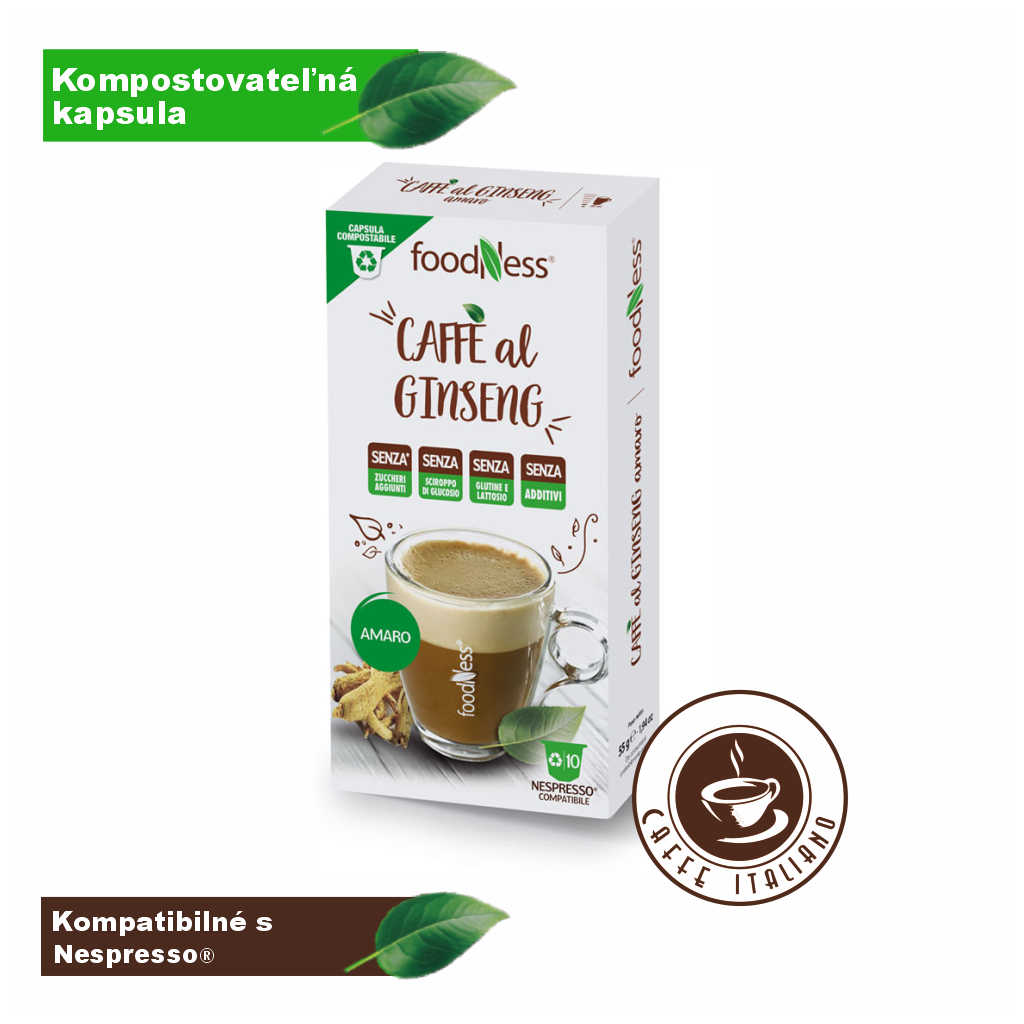 Ženšen káva nesladená 10 kapsúl/5,5g