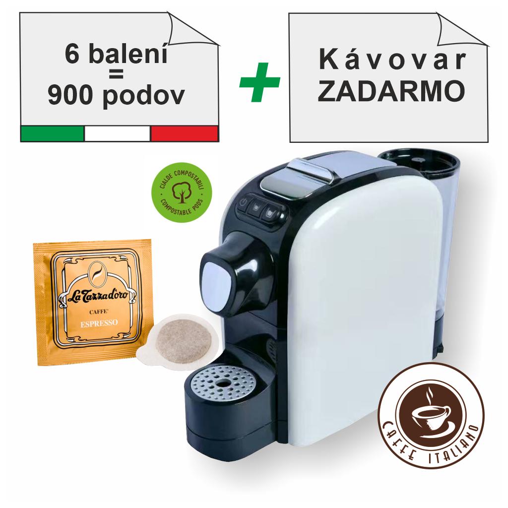 la tazza doro ese pody 150ks 90arabica 10robusta mleta kava caffeitaliano SMF SF02 kavovar zadarmo logo caffeitaliano