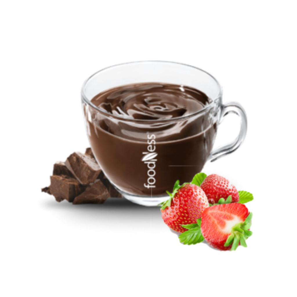 aHorúca čokoláda Jahoda 30g/15kshoruca cokolada jahoda bez laktozy bez lepku bez gmo 15x30g foodness caffeitaliano