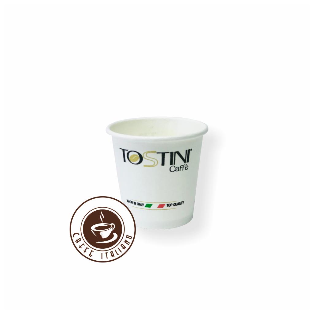 tostini caffe papierovy pohar espresso 30ml papier logo caffeitaliano