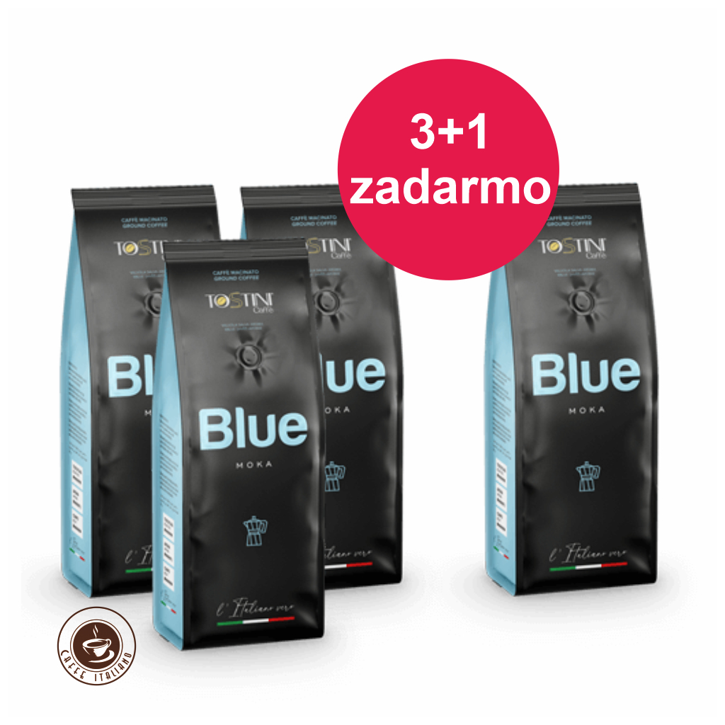 Mletá káva Tostini Coffee Blue 250g 3+1 zadarmo