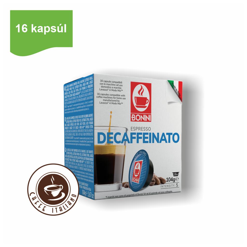 Kapsule Lavazza® A Modo Mio® Bonini Decaffeinated 16ks