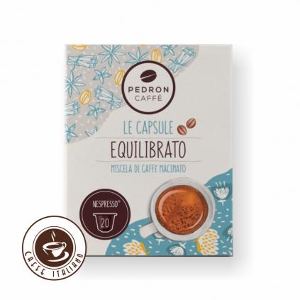 pedron caffe equilibrato nespresso point bezkofeinove kapsule 20ks 85arabica 15robusta logo caffeitaliano