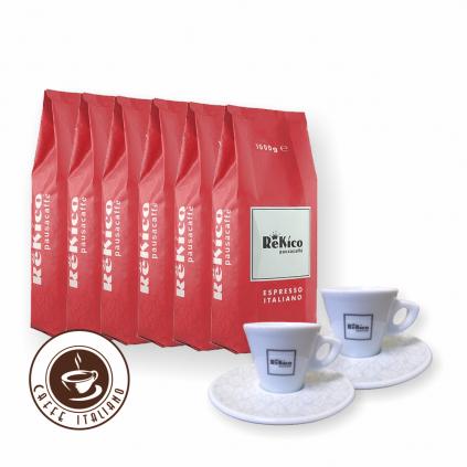 Rekico Diamond 6kg zrnková káva + 2 espresso šálky grátis