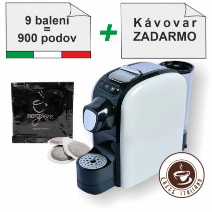 nero puro intenso ese pody 100ks 30arabica 70robusta mleta kava caffeitaliano SMF SF02 kavovar zadarmo logo caffeitaliano