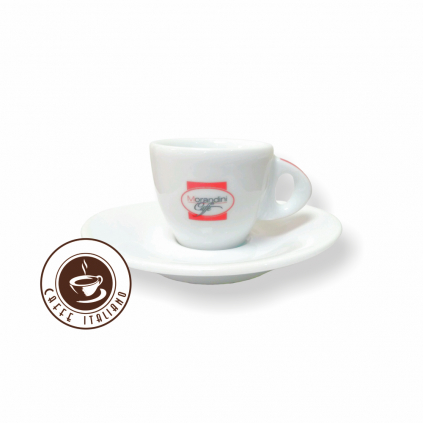 morandini caffe salka s podsalkou espresso biela keramika 50ml logo caffeitaliano
