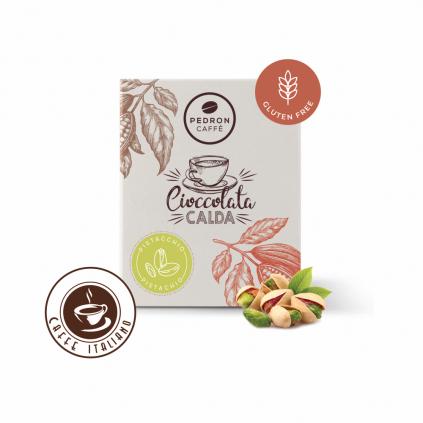 Horúca čokoláda Pedron - Pistácia, 20x30g porciovaná
