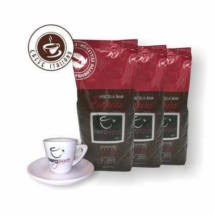 NeroPuro Sinfonia 3kg kávy + šálka gratis