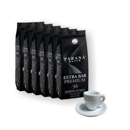 Paraná Extra Bar Premium 6kg zrnková káva + grátis šálka  +darček k objednávke + Paraná Espresso šálka s podšálkou