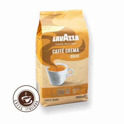 Lavazza Dolce Caffe Crema zrnková káva 1 kg