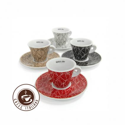 rekico salka s podsalkou art espresso 4ks keramika 55ml logo caffeitaliano