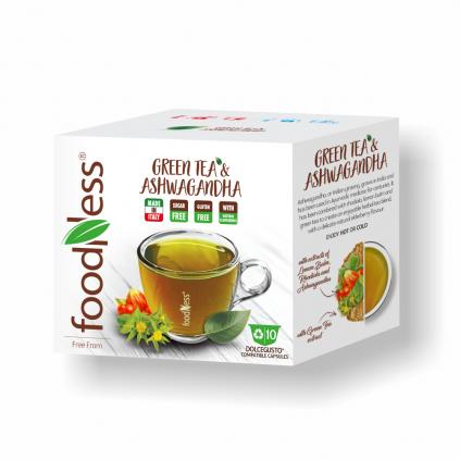 zelený čaj ashwagandha dolce gusto 10ks foodness zdravý teplý nápoj caffeitaliano