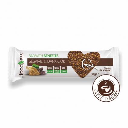 Sezamová tyčinka s tmavou čokoládou 30g