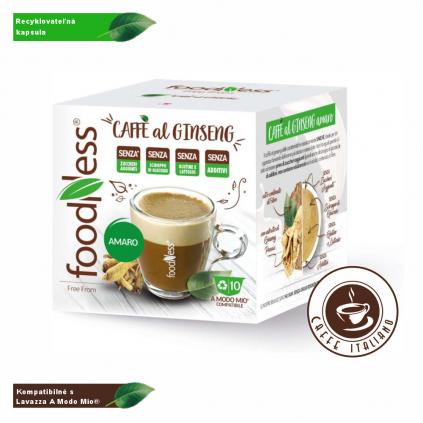 Ženšenová káva AMARO Lavazza® A Modo Mio® 10 kapsúl/5,5g