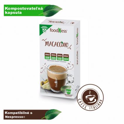 macaccino nespresso foodness teplý nápoj caffeitaliano
