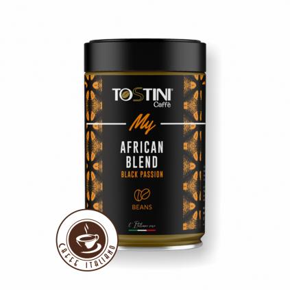 tostini coffee africa 250g doza zrnkova kava zmes arabika robusta logo caffeitaliano