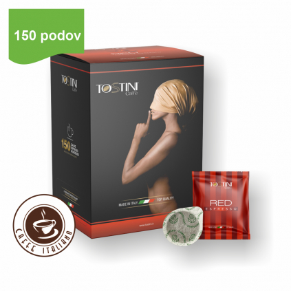 Tostini kávové pody RED 150ks