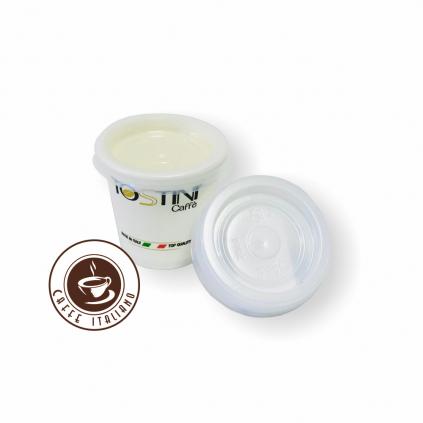 tostini caffe plastovy vrchnak na papierovy pohar 30ml espresso coffee to go logo caffeitaliano