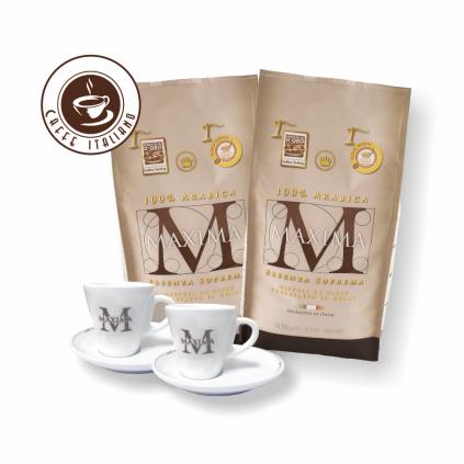 Morandini Maxima zrnková káva 2kg + šálka grátis