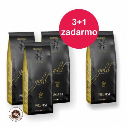 Tostini Coffee Gold 250g 3+1 zadarmo