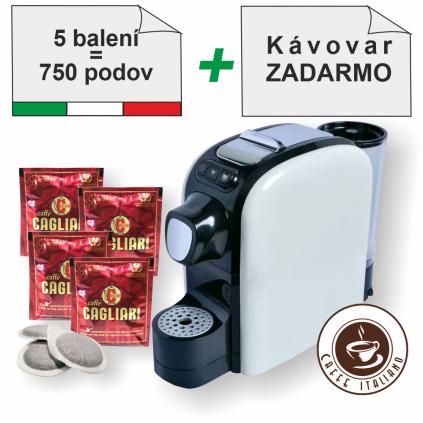 Cagliari SuperOro E.S.E.pody 750ks + kávovar