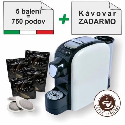 Paraná Espresso Italiano E.S.E. pody 750ks + kávovar