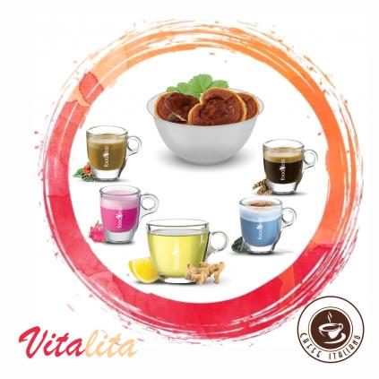 foodness vitalita dolce gusto box jacmen caj zazvor citron reishi zelena kava unicorn latte mermaid latte logo caffeitaliano