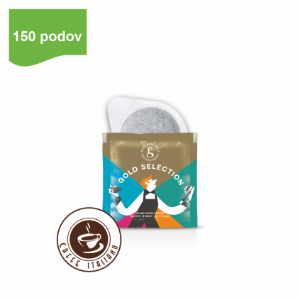 golden coffee gold selection ese kavove pody 150ks arabica robusta logo caffeitaliano