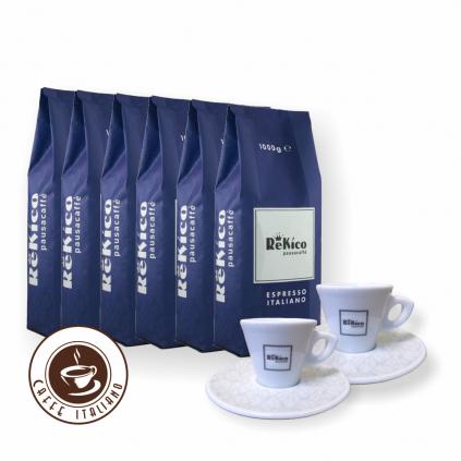 Rekico Antigua Blend 6kg zrnková káva + 2 espresso šálky grátis