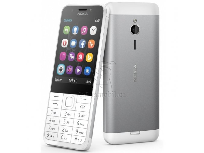 Nokia 230 Single SIM, White/Silver