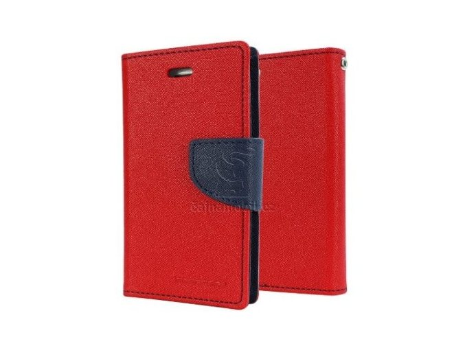 Mercury fancy diary book pro Samsung A3 2017 A320, Red/Navy