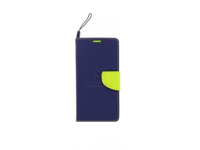 Pouzdro Fancy Diary Book Huawei P8/P9 Lite 2017, Navy/Lime