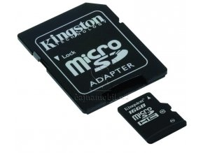 Kingston microSDHC 16GB UHS - 1 U1 + adaptér SDC10G2/16GB