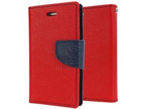 Mercury fancy diary book pro Samsung J7 2017 J730, Red/Navy