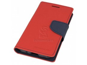 Pouzdro Fancy Diary Book Huawei P8/P9 Lite 2017, Red/Navy