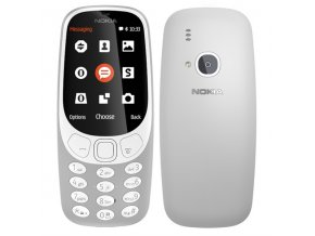 Nokia 3310 2017 Single SIM, šedá