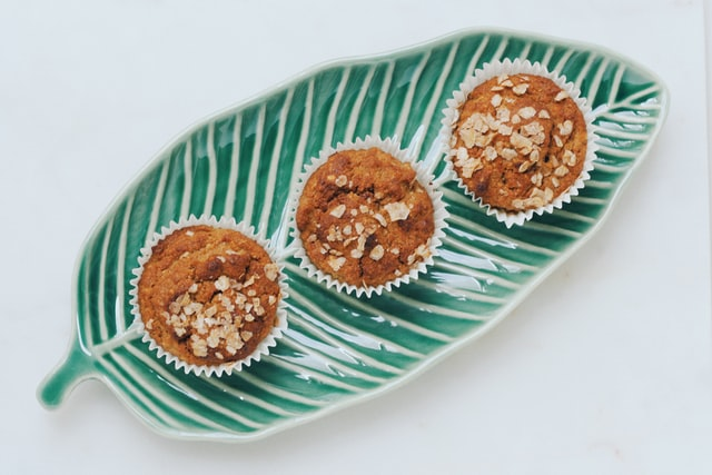 Domácí muffiny s čajem matcha